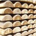 Demi rondin 10x200 cm en bois autoclave