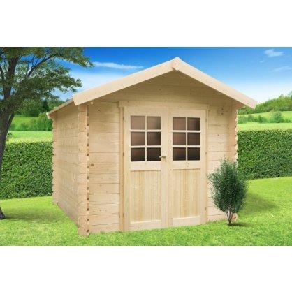Abri bois 19 mm GERA 6,15 m² - 248x248 cm