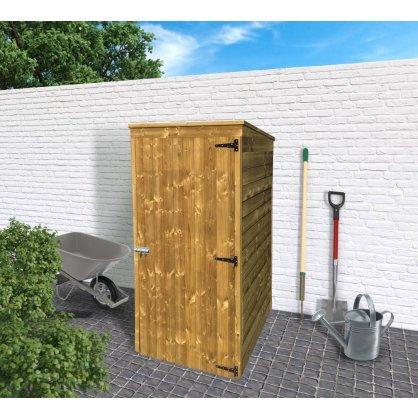Abri de rangement extérieur toit plat 96 x 90 cm - 0,87 m²
