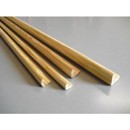 Baguette d'angle en pin 2400x35x35 mm