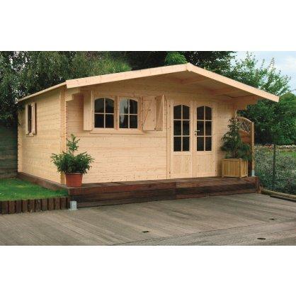 Chalet de jardin en bois 40 mm CHAMONIX 19,98 m²