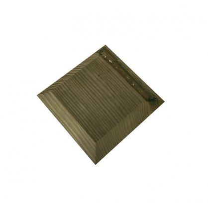 Chapeau couvre poteau bois 9x9 cm