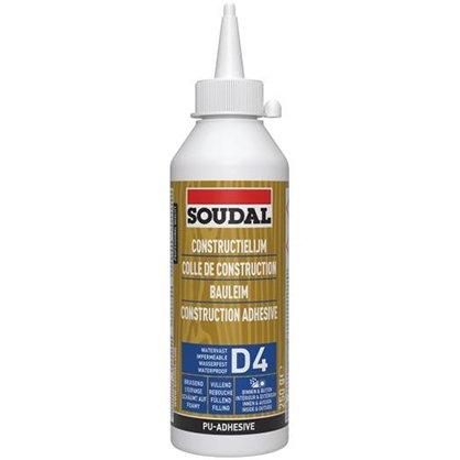 Colle polyuréthane D4 SOUDAL - Biberon de 250 g