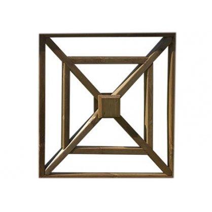 Croix de Saint André 80 X 80 cm en pin Cl4