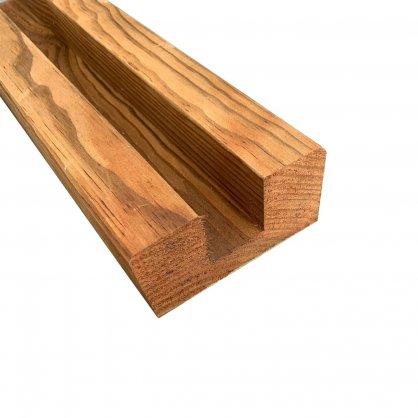 Demi poteau bois autoclave marron 200x9x4,5 cm