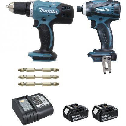 DLX2022SJ3 Ensemble de 2 machines 18 V Li-Ion 3 Ah DDF453 + DTD146 MAKITA