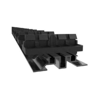 Flat rail alu noir + 32 clips pour fixation de 16 lames