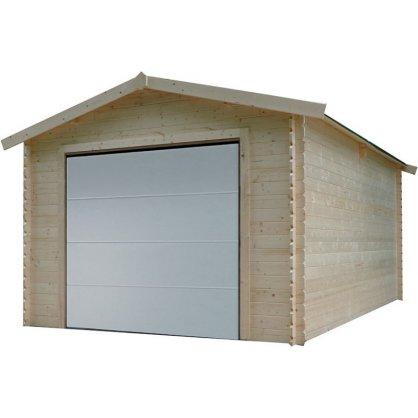 Garage bois 28 mm 18,19 m² porte motorisée 358x508 cm