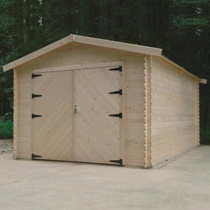 Garage bois 28 mm Traditional 18,19 m² - 358 x 508 cm - S8331