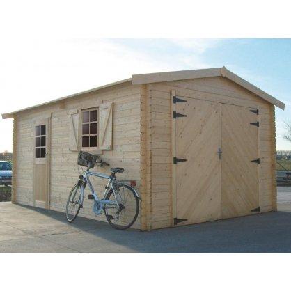 Garage bois 40 mm Traditional 19,26 m² 358x538 cm