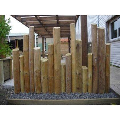 Kit 1 ml clôture rondins bois déco