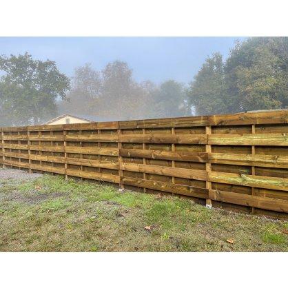 Kit clôture volige bois Cl4 L. 9.60 ml