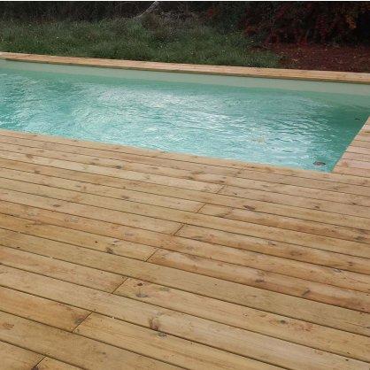 Kit terrasse 10m² TRADITION en pin Cl4 lisse