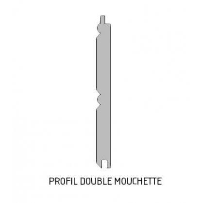 Lambris pin petit noeud double mouchette 100x10 mm L. 2,00 m en pin
