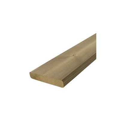 Lame de terrasse en pin lisse 4 faces 4800x145x27 mm