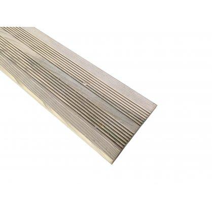 Lame de terrasse 2,40 m striée en bois autoclave