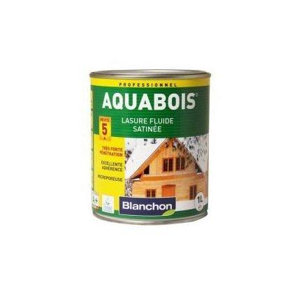 Lasure satinée Aquabois Chêne moyen Blanchon 1L