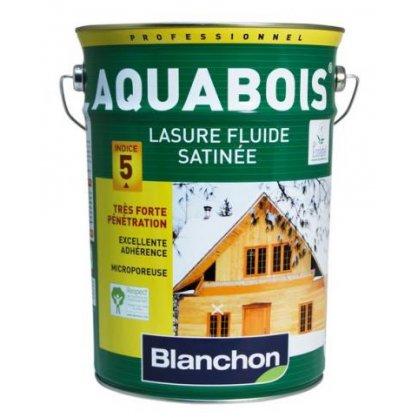Lasure satinée Aquabois - Blanc - 5L
