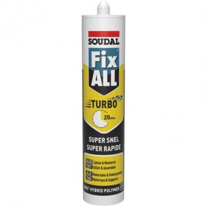 Mastic Fix All turbo blanc 290 ml SOUDAL