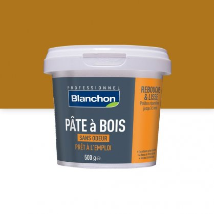 Pâte à bois 500 g CHENE CLAIR Blanchon pour fissures fines