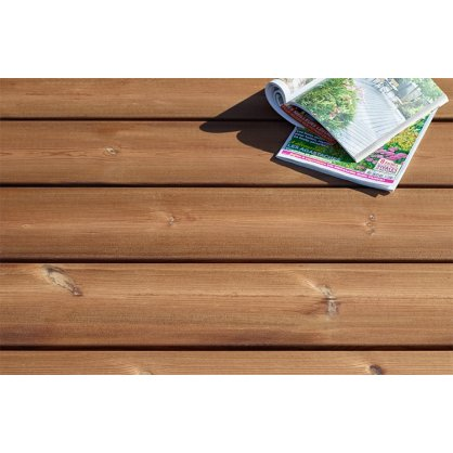 Pack 20m² terrasse piscine en pin brun Bequia