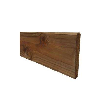 Planche de finition clôture marron 1,95 m