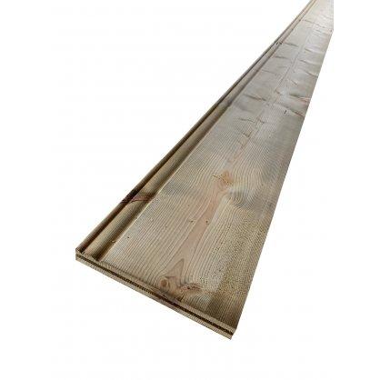 Planche de rive 170x28 mm Long. 5,10 m en sapin