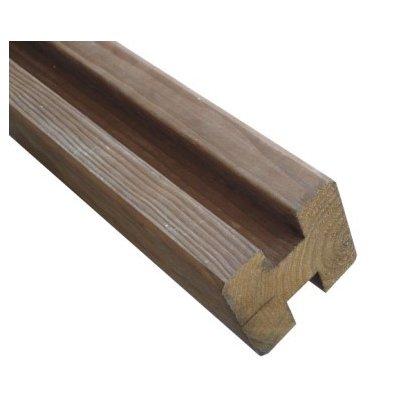Poteau bois en H marron 9x9x240 cm