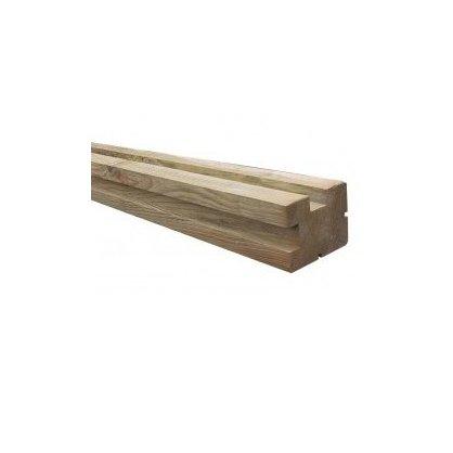 poteau d 39 angle cl ture 90x90x2400 mm idea bois nicolas. Black Bedroom Furniture Sets. Home Design Ideas