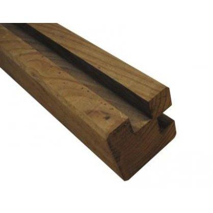 Poteau d'angle clôture marron 9x9x240 cm