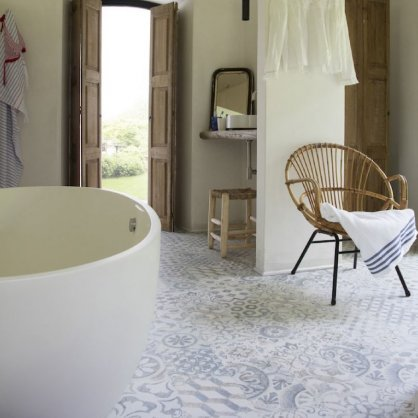 Stratifié salle de bain Retro Chic Bleu Gris OCEAN