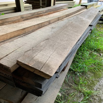Traverse paysagère en chêne 2m 200x120 mm