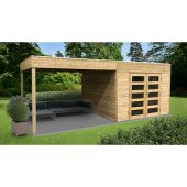 Abri jardin traité 19 mm TARENTO 2988 + 2929 x 2908 mm – avec pergola