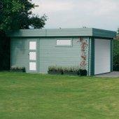 Garage 40 mm Modern 19,26 m² porte motorisée 358x538 cm