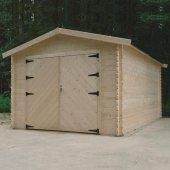 Garage bois 28 mm HOBBY 18,19 m² 358x508 cm - S8331