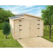 Garage bois 28 mm Torino 20,88 m² - 570 x 360 cm - S8241