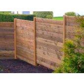 Kit 10 ml clôture en bois teinté marron Hauteur 1,80 m