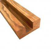 Poteau intermédiaire marron 90x90x2000 mm pour clôture bois autoclave