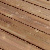 Terrasse en pin marron US 2400 x 145 x 27 mm autoclave