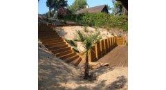 terrasse bois exotique cl ture bois autoclave et rondins de bois bois exterieur. Black Bedroom Furniture Sets. Home Design Ideas