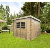 Abri en bois 19 mm HOF 248 x 248 cm 6,15 m² - S8606