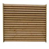 Clôture bois persienne