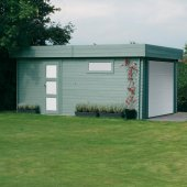 Garage 40 mm avec porte sectionnelle 19,26 m² Moderne 358x538 cm