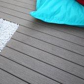 Lame terrasse composite Fiberon CLASSIC gris à clipper 3,05 m