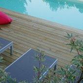 Kit terrasse 20m² en pin lisse
