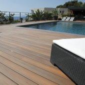 Lame bois composite brun TEAK à clipper Fiberon Xtreme Advantage