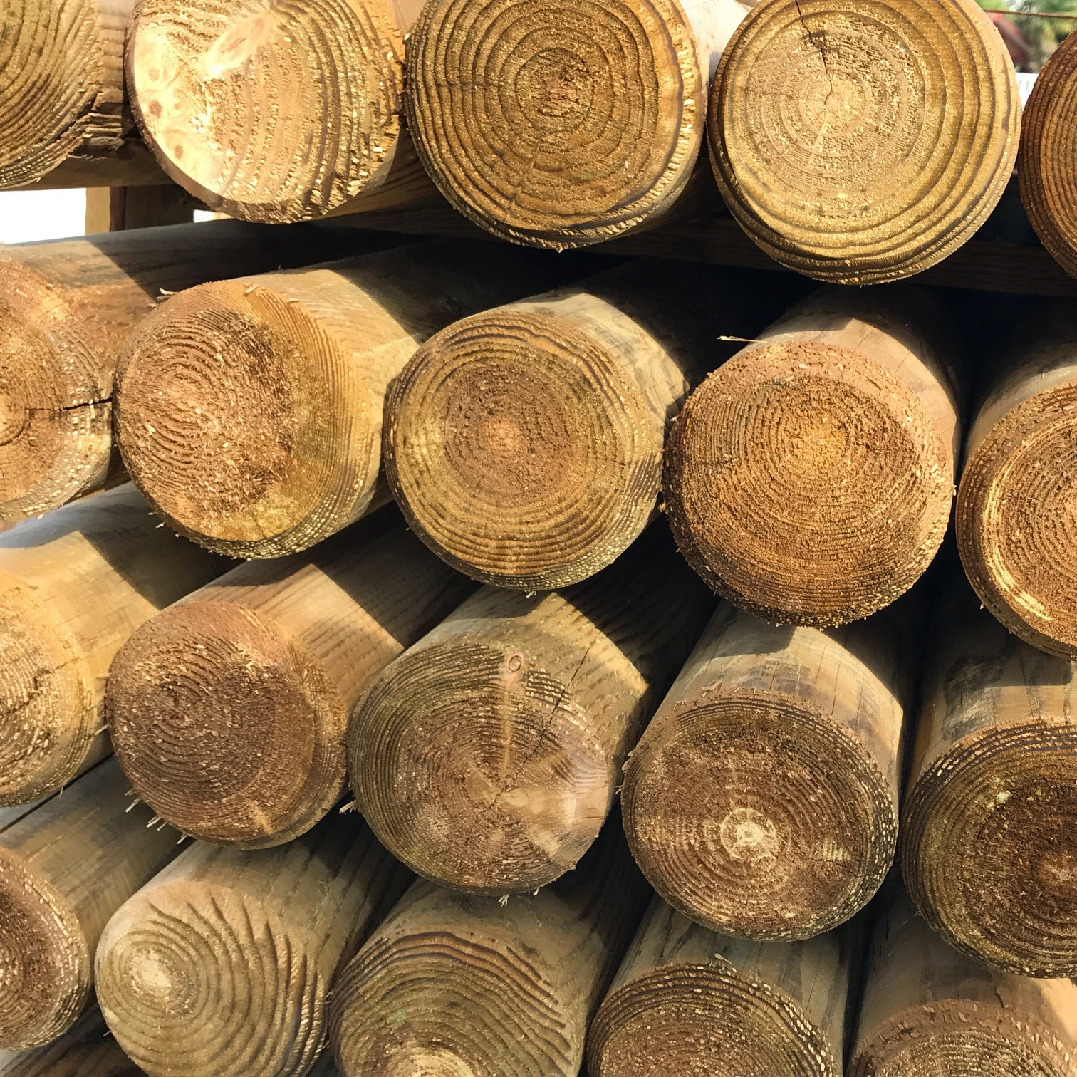 Rondin de bois 5 rondins bois autoclave 14x300 cm for Bois exterieur autoclave