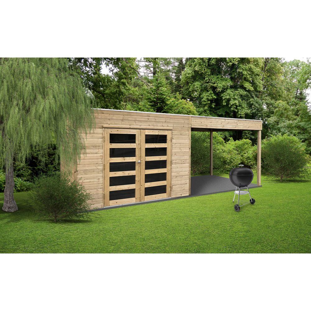 Abris jardin de 5 à 10 m² avec pergola SALERNO S8732-1 ...