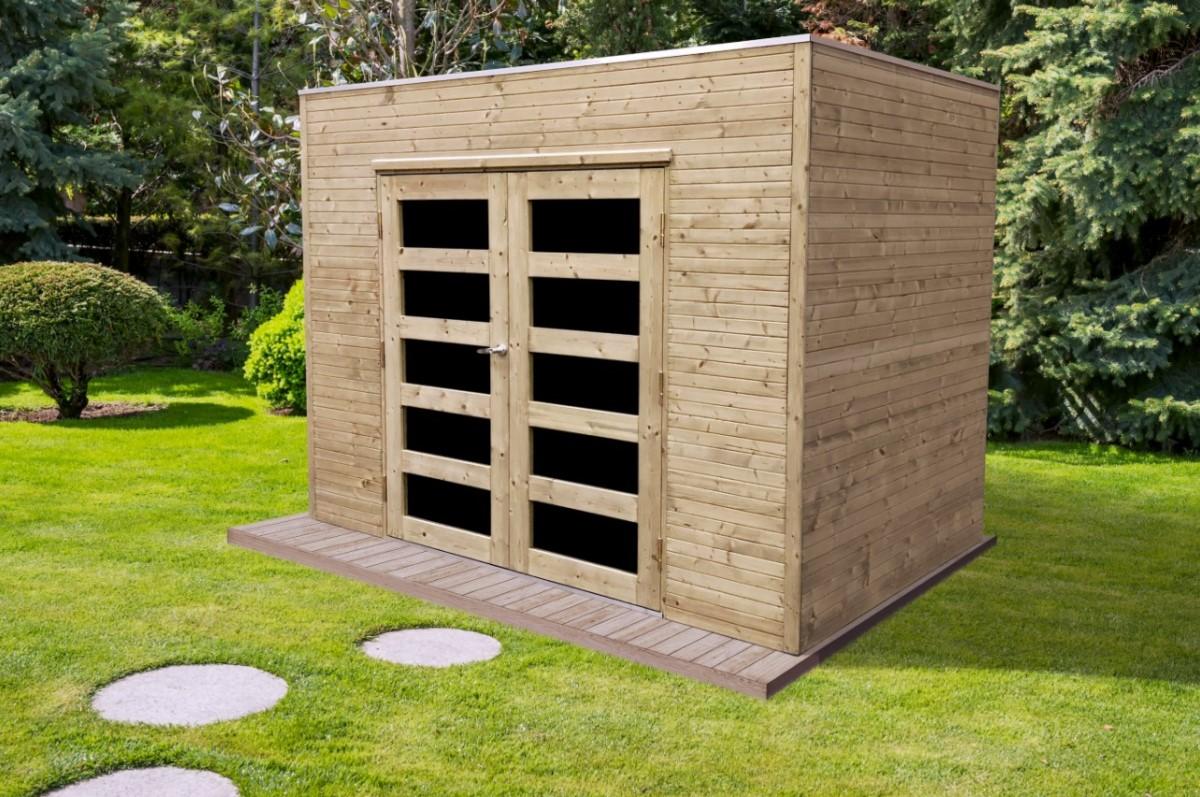 Abris jardin de 5 à 10 m² - Abri Capri S8731-1 : Idea Bois ...