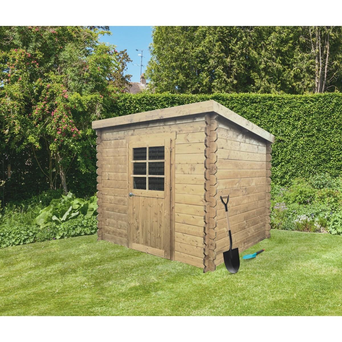 Abri jardin PASSAU 198 x 198 cm toit plat - 3,92 m² - S8604 ...
